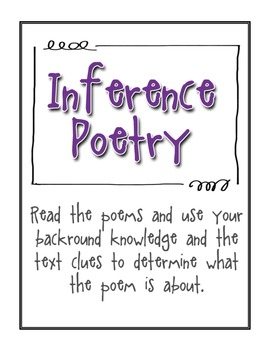Making Inferences Through Poetry {Free Download}