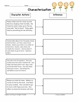 Making Inferences Unit with Dandelions by Eve Bunting
