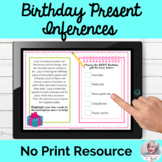 Making Inferences Birthday Activity NO PRINT Speech Therap