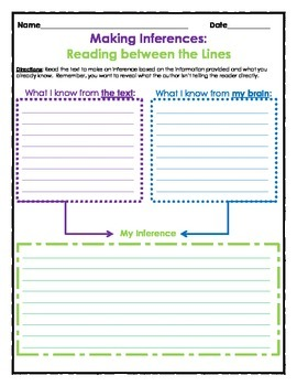 Making Inferences When Reading