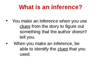 Making Inferences When Reading Power Point