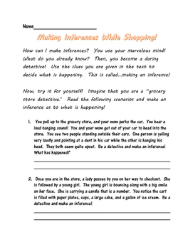 Making Inferences While Shopping!