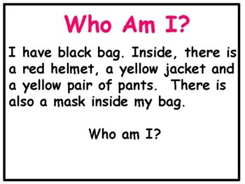 Making Inferences Power Point:  Who Am I?