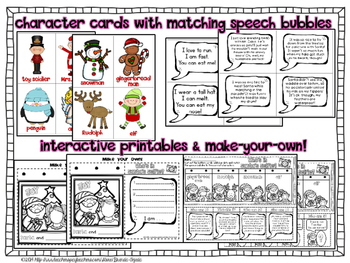 Making Inferences: Who's in Santa's Selfie? PPT & Printables