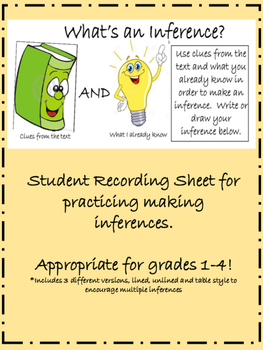 Making Inferences Worksheets Teaching Resources Teachers Pay Teachers