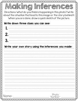 Making Inferences Writing Unit