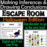 Making Inferences and Drawing Conclusions Escape Room Halloween Game