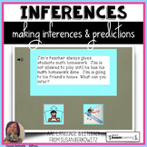 Making Inferences and Predictions BOOM Cards digital speec