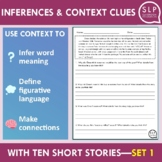 Inferences and Context Clues Short Stories for Speech Ther