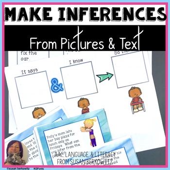 Making Inferences from Pictures and Text for speech language therapy
