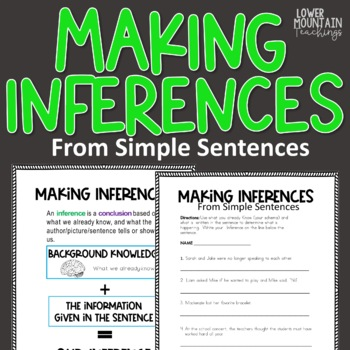 Making Inferences from Simple Sentences! and a Challenge!!