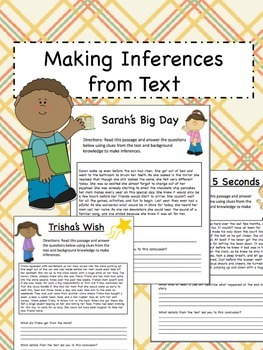 Making Inferences from Text