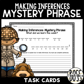 Making Inferences in Fiction: Mystery Picture