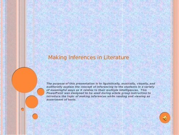Making Inferences in Literature