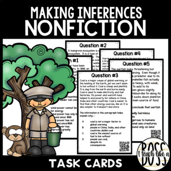 Making Inferences in Nonfiction Task Cards