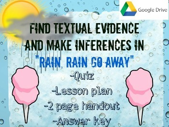 Making Inferences in Rain, Rain go Away -Google Drive Version