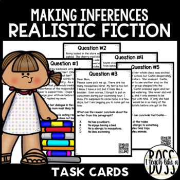 Making Inferences in Realistic Fiction Task Cards