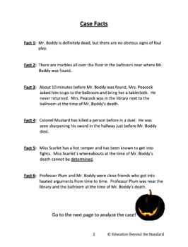 Making Inferences to Solve a Mystery - Halloween Academic Vocabulary Activity