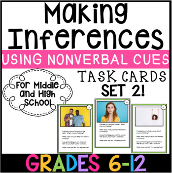 Making Inferences using Nonverbal Cues. Perspective Taking & Emotions SET 2