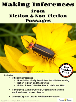 Making Inferences with Fiction and Non-Fiction Passages : Fireflies