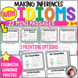 Idioms Worksheets  - Making Inferences Figurative Language Practice