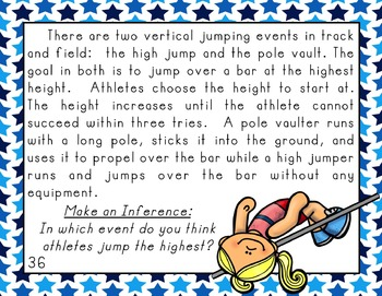 Making Inferences with Informational Text (Summer Sports Edition)