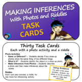 Making Inferences with Photos and Riddles - Task Cards