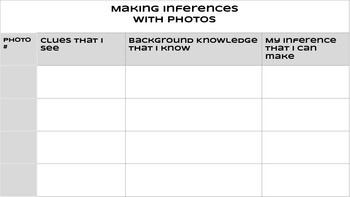 Making Inferences with Photos slides