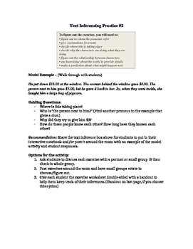 Making Inferences with Text (Scenarios) #2 (STAAR Practice)