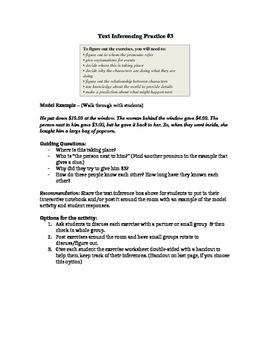 Making Inferences with Text (Scenarios) #3 (STAAR Practice)