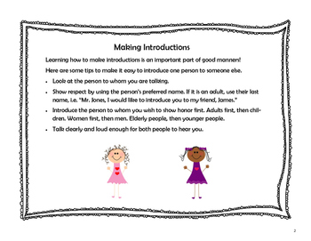 Making Introductions - Teaching Good Manners, Social Skills, Etiquette