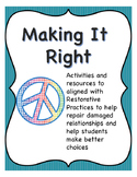 Making It Right: Restorative Ideas to Deal with School Discipline