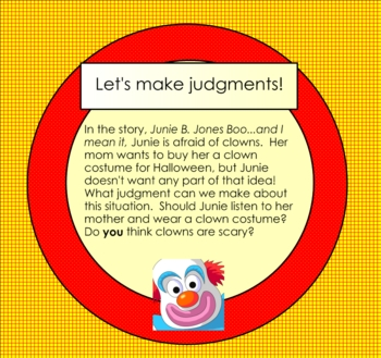Making Judgments Smartboard Lesson