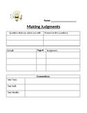 Making Judgments worksheet