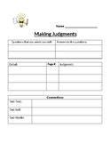 Making Judgments worksheet