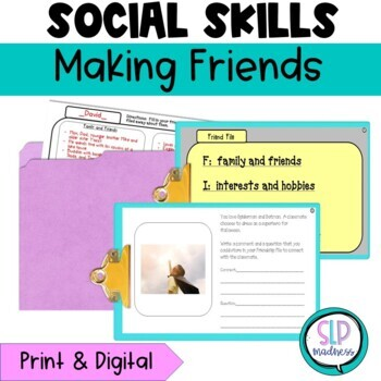 Making & Keeping Friends with Connections & Files, Social Skills, speech  therapy