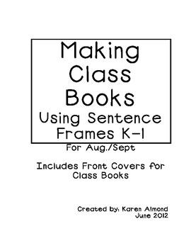 Making Kindergarten Class Books - Aug/Sept