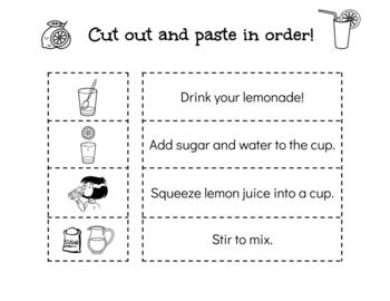 Making Lemonade - 5 Senses Flip Book and Sequencing Activity