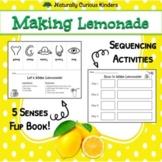 Making Lemonade - 5 Senses Flip Book and Sequencing Activity