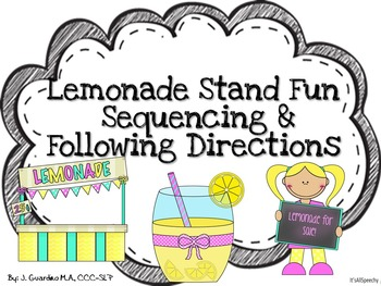 Making Lemonade Sequencing & Adjectives, Following Directions