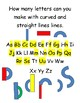 Making letters using straight lines and curved