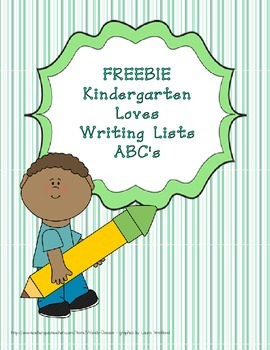 Writing Lists - ABC beginning sounds FREEBIE!