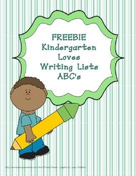 Writing Lists - ABC beginning sounds FREEBIE!