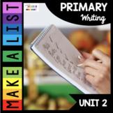 Writing Lists - Kindergarten Writing  - First Grade - Writer's Workshop
