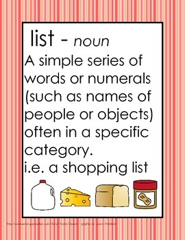 Writing Lists - Short Vowels Rhyming and Word Families FREEBIE