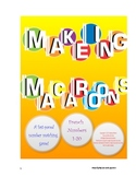 Making Macaroons: A Fast-Paced Number Matching Game, French Numbers 1-20