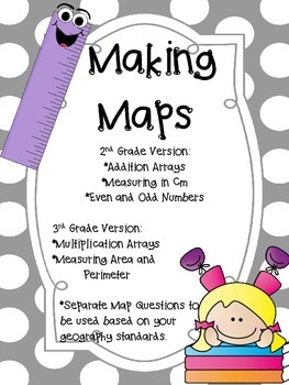 Making Arrays, Measuring in cm, and Even and Odd Numbers (Map Project!)