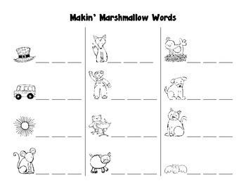 Making Marshmallow Words - Making CVC Words