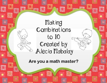 Making Math Combinations to 10