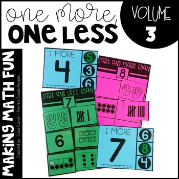 Making Math Fun Volume 3 - One More/ One Less